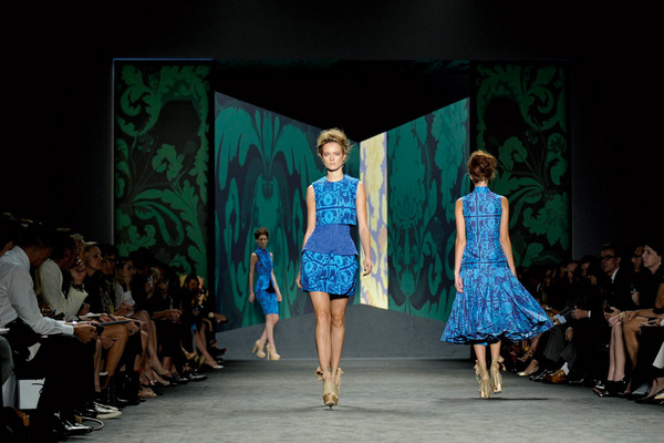 Fashion Week New York 2012: Vera Wang; Rechte: dpa/Peter Foley