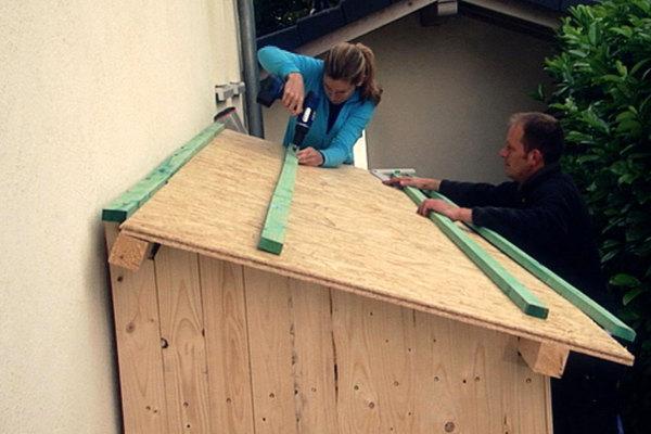 gartenhaus dach decken anleitung great verlegen anleitung mit neu eindecken mit vielen with. Black Bedroom Furniture Sets. Home Design Ideas