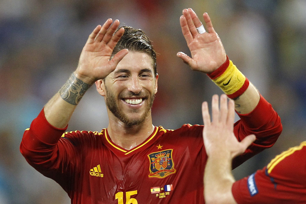 Sergio Ramos, Quarter Final Spain vs France; Rechte: picture alliance / dpa