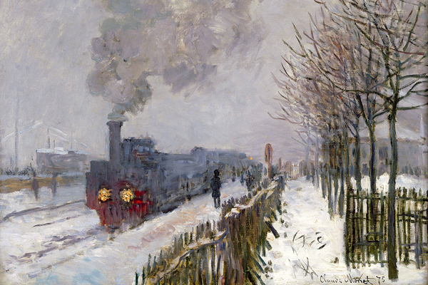 Claude Monet, Le train dans la neige. La locomotive, 1875; Rechte: Mus�e Marmottan Monet, Paris