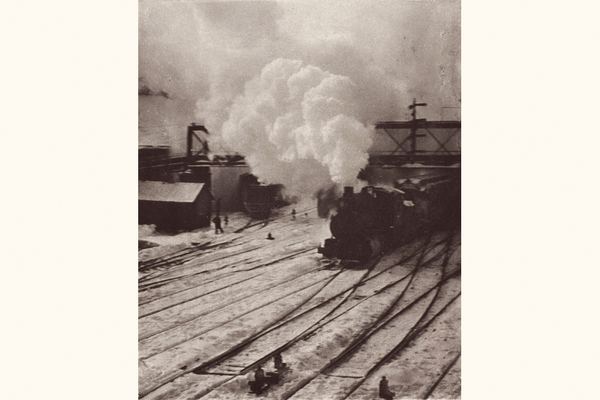 Alfred Stieglitz, Snapshot � In the New York Central Yards, in: Camera Work XX 1907; Rechte: Sammlung Dietmar Siegert