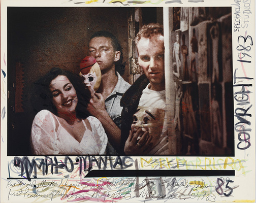 Mark Morrisroe: Nyph-o-maniac. 1983, Polaroid 35mm PolaChrome Cibachrome print with paint, 10.4 � 15.7�; Rechte: The Estate of Mark Morrisroe