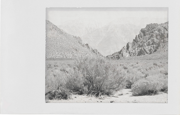 Minor White: Boundary Mountain, Benton, California. 1959, Polaroid Type 52 4 � 5