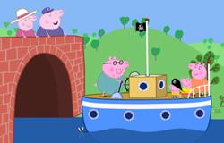 Familie Wutz aus der 'Sendung mit dem Elefanten' macht einen Ausflug mit einem Schiff.; Rechte: WDR