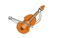 Eine Geige aus der 'Sendung mit dem Elefanten'.; Rechte: WDR