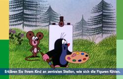 'Die Sendung mit dem Elefanten' mit Elternticker. Hier steht im Elternticker: 'Erklären Sie Ihrem Kind an zentralten Stellen, wie sich die Figuren fühlen'.; Rechte: WDR