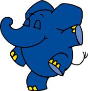 Der Elefant aus der 'Sendung mit dem Elefanten' tanzt.; Rechte: WDR