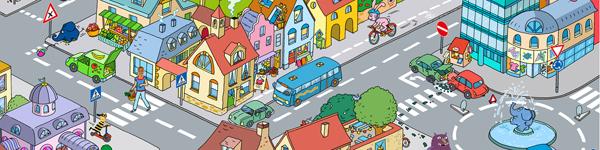 Verkehrswimmelbild der 'Sendung mit dem Elefanten'; Rechte: WDR / Ina Mertens