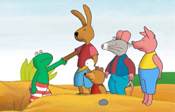 Bild aus der Serie 'Frosch und Freunde'.; Rechte: WDR