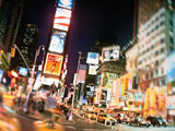 New York Times Square bei Nacht; dpa