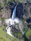 Der Wasserfall in Valbondione; Rechte: Comune di Valbondione