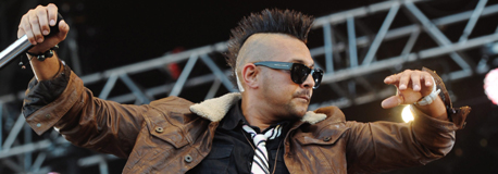 Sean Paul live auf der Bhne; picture-alliance / dpa