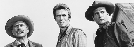 Clint Eastwood in der Serie Rawhide; Rechte: dpa