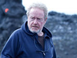 Regisseur Ridley Scott am Set von Prometheus; 20 Century Fox