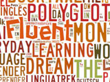 Wordcloud zum Thema Lernen /Learning; Top 25 Language Learning Blogs 2012, Grafik von taxgedo.com,
