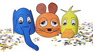 Bastelanleitung Masken; Rechte: