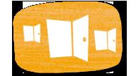 3 geöffnete Türen; Rechte: WDR