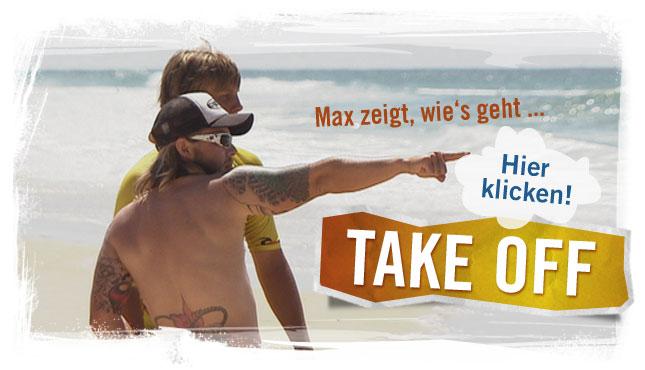 Surflehrer erkl�rt am Strand; Rechte: WDR 2012
