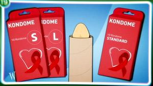 Anleitung: Kondomkauf - Größen; Rechte: WDR 2012