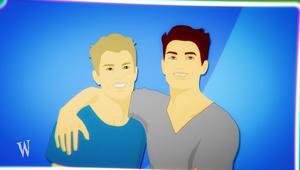 Zeichnung: Junge legt den Arm um anderen Jungen; Rechte: WDR
