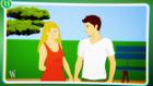 Zeichnung: Junge und Mädchen stehen nebeneinander.; Rechte: WDR