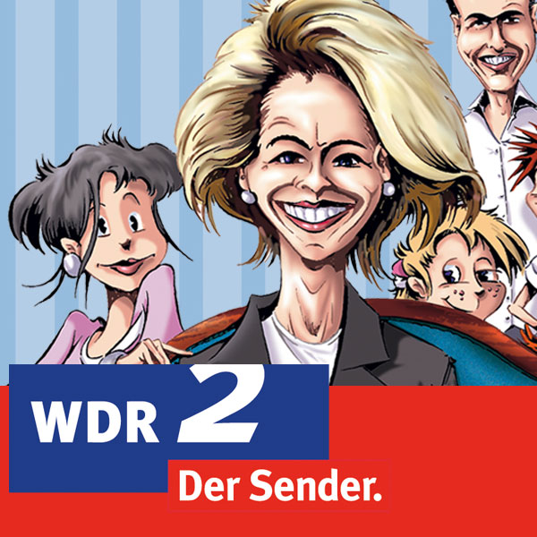 Als Comic: Familie Von der Leyen; Rechte: WDR[M]