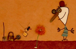 Monsieur Louis und sein Käfer aus der 'Sendung mit dem Elefanten'. (Bildrechte: WDR)