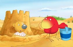 Lenny und Twiek aus der 'Sendung mit dem Elefanten' im Sand. (Bildrechte: WDR)