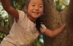 In der 'Sendung mit dem Elefanten' klettert Machiko in einen Baum. (Bildrechte: WDR)