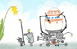 Ostereiermalmaschine aus der 'Sendung mit dem Elefanten' (Bildrechte: )