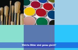 'Die Sendung mit dem Elefanten' mit Elternticker. Hier steht im Elternticker 'Welche Bilder sind genau gleich?'.; Rechte: WDR