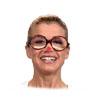 Anke Engelke mit Brille und rotem Punkt auf der Nase. (Bildrechte: WDR)