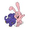 Elefant und Hase aus der 'Sendung mit dem Elefanten' winken. (Bildrechte: WDR)