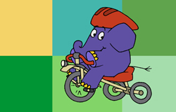 Der Elefant fährt Dreirad (Bildrechte: WDR)